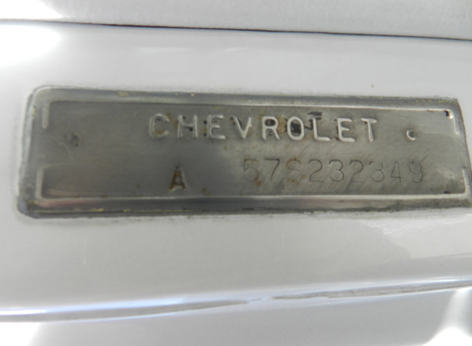 57-Chevy-Serial-Number