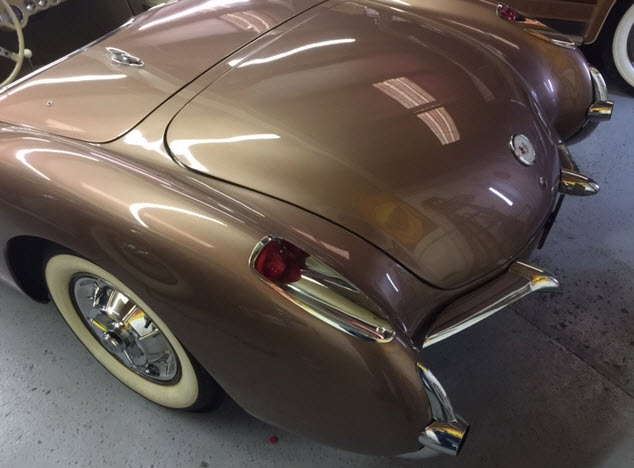 '57 Corvette Champagne Color Paint Job