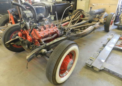 1935 Ford Rolling Chassis/Vintage Flathead V8 – CALL FOR PRICE